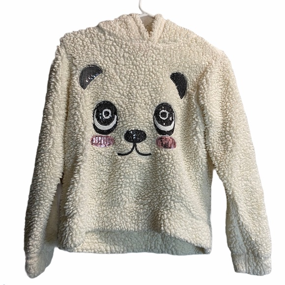 Say What? Other - Say What Kids Panda Fluffy white hoodie sweater
